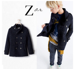 Discount Boys Double Breasted Wool Coat | 2017 Boys Double ...
