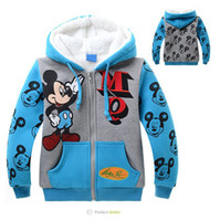 Wholesale New Arrival Cute Mickey Mouse Boy s Wool Outerwear Winter Thick Cashmere Children Coats for years