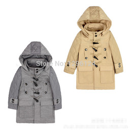 Wholesale spring new fashion export European top grade boys girls wool amp bent Horn button children warm Outerwear coats