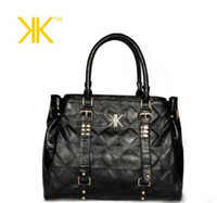 Wholesale New Fashion Kim Kardashian Kollection Women Bag Designer Brand Handbags kk Shoulder Bag Plaid Revit Women Tote Bolsas
