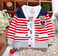 Wholesale New Arrival Fashion Bestselling Kids Boys Girls Children Sweaters Shirts Bear Teddy Cardigans