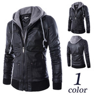 Wholesale M XXL new autumn big yards men s fashion cultivate one s morality even cap locomotive leather jacket