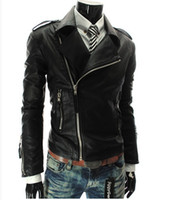 big leather jackets - leather jacket men New European Style Big Personality More Zipper Collar Men s Leather Motorcycle Biker Leather Jacket
