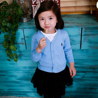 Wholesale The boy in the spring and autumn jacket cotton years old female baby sweater knit cardigan Korean foreign baby