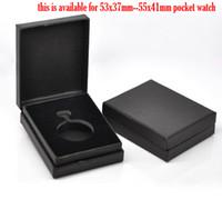 achat en gros de yiwu coffrets cadeaux-Gros-Pocket Watch Black Velvet Boîtes cadeaux 9.5x7.5x3cm, 2pcs (B13627), Yiwu
