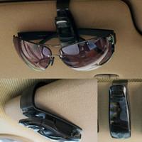 Cheap Wholesale-2015 Hot Sale ABS Car Vehicle Sun Visor Sunglasses Eyeglasses Glasses Ticket Holder Clip Free Shipping