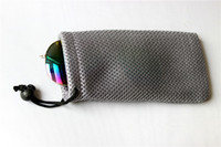 bags colored glass - Glasses Case Soft Waterproof Plaid Cloth Sunglasses Bag Glasses Pouch colored contact lenses