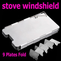camping stove - Plates Foldable Outdoor Camping Stove Wind Shield Screen