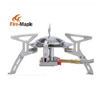 bbq gas stove - Fire Maple Gas Burner Mini Lighter Outdoor Camping Equipment Portable Gas Stove Cookware Propane Butane BBQ Grill Folding