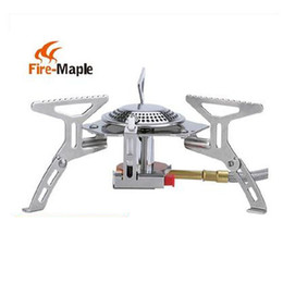 Wholesale Fire Maple Gas Burner Mini Lighter Outdoor Camping Equipment Portable Gas Stove Cookware Propane Butane BBQ Grill Folding