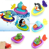 baby imagination - newest Sassy Inspire Imagination Lovely Animal Play Water Penguin Boats Baby Bath Toy