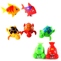 Cheap Wholesale-Cute Wind-Up Clockwork Bath Toys Animals Frog Fish Baby Shower Swimming Pool For Baby Kids Randomly