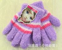 Wholesale Gift children high quality autumn winter outdoor warm women touch kids knited gloves half full finger mitten1pair GW54