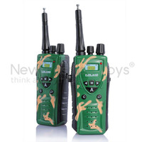 Wholesale x Kids Walkie Talkie UHF VOX Two Way Radio Compass Watch Army Green Role Play