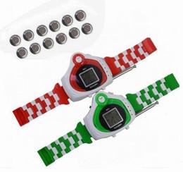 2017 relojes de pulsera piezas Mayor-Libre de envío de Dropship 2 pedazos / porción de radio de dos vías KIDS WALKIETALKIE WRISTLINX 2 RELOJ DEL JUGUETE SPY 007 ADMINÍCULOS relojes de pulsera piezas oferta