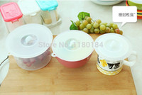 silicone cup lid - Silicone Smart Cup Lid Seal Cup Cover Supercapacity non toxic tasteless fresh keeping seal bowl lids CM