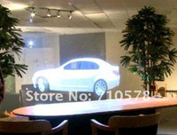 Wholesale Fast shipping holographic projection film for window shop display transparent grey and white color all are available