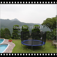 Wholesale ft New latest China amusement Cheap Kids Outdoor big trampoline with PE net PVC spring pad