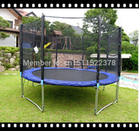 Wholesale Enclosure Stabled Trampoline L shaped patent Cheap Kids Outdoor Bungee Jumping Trampoline for sale