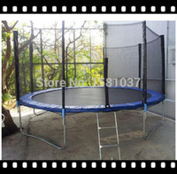 Wholesale ft small spring trampoline round trampoline park Mini Trampoline with Safety net from GSD