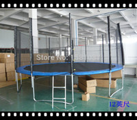 Wholesale ft New latest China amusement Cheap Kids trampoline with ladder and safety enclosure