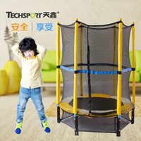 Wholesale inch household child indoor fence trampoline jumping bed for kids cama elastica jump with protecting wire net