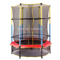 Wholesale protective net equipped foldable inch children safety trampoline