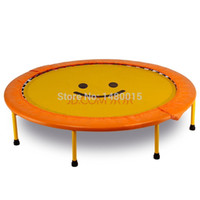 Wholesale inch cm yellow smiley trampoline bearing weigt KG foldable trampoline