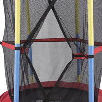 trampoline enclosure net - Net Pad Rebounder Indoor Exercise quot Round Kids Mini Trampoline w Enclosure