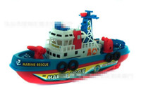 Buques de guerra de juguete eléctrico mayorista-Barco de bomberos Electric Boat Modelo Infantil Barco de navegación no a distancia en el mar