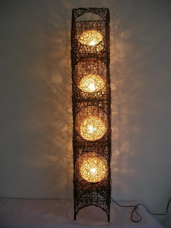 Wholesale-Handmade Rattan Floor Lamp Lighting Floor Lamp Bedroom ...