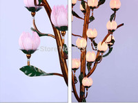 Wholesale Modern Floor Lamp Europe Fashion Art Glass Flowers Floor Lamp Study Room Bedroom Floor Lamp L50cm H183cm