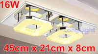 Cheap Wholesale-LED modern chandelier Chandelier ceiling Lustre lamps Square living room Lustres home decoration chandeliers china free shipping
