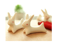 animal spoon rest - x Ceramic Ware Rabbit Chopstick Rest Porcelain Spoon Fork Knife Holder Stand Cute Lovely Animal Shaped Home Use Dinner Party