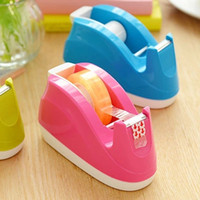 adhesive label holders - Deli Colored Adhesive Tape Dispenser Cutter Small Label dispenser Tape Holder Office Tool A403