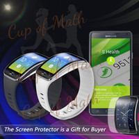 Wholesale Black White Replacement Rubber Band For SAMSUNG GEAR S Bracelet Band Strap with Metal Clasps Screen Protector