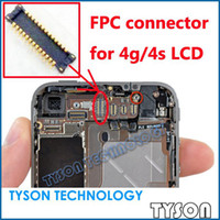 Cheap Wholesale-FPC connector for iPhone 4 4g 4s LCD display screen on motherboard logic board Free Shipping