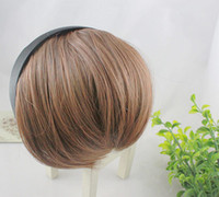 Wholesale New Synthetic Bangs Clips in on Front Neat Bang Women s Clip on Bangs Fringe Hair Fake Hair Bang Hairpiece Hair extension