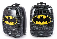Wholesale Inch Boys Batman Rolling Luggage Children Cartoon Black Travel Suitcase Hardside Trolley Case Superhero School Bag On Wheels