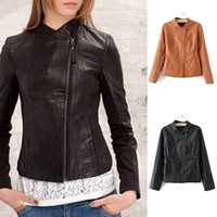 Cheap Brown Leather Jackets Women Sale | Free Shipping Brown