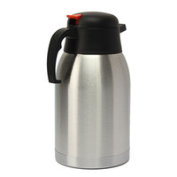 stainless steel double wall bottle - High Quality L Double Wall Isolating Jug Vacuum Insulated Stainless Steel Water Bottle Thermal Coffee Pot Flask