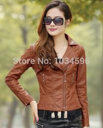 Discount Women Brown Leather Jacket Sales | 2017 Women Brown ...