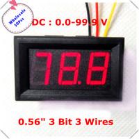 Wholesale Home automation module LED Display five Colors quot Digital Voltmeter DC V wires car Voltage Panel Meter