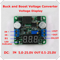 Wholesale home automation modules Voltmeter DC DC Step up down Power Supply boost buck voltage converter LM2596 amp LM2577 V