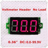 Wholesale Home automation module DC V quot Digital Voltmeter No Lead digit Voltage Panel Meter led Display Color pieces