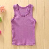 basic tshirt - New Hot Summer Girls Boys Basic Vest Tanks Top Tshirt Cotton M TChildren Vest Beach Price