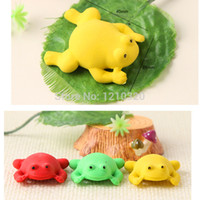 Wholesale cute frog pencil eraser Novelty sationery school erasers for kids students rubber eraser