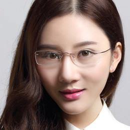 titanium eyewear colr  Wholesale-2015 New Original Austria Brand Super Light Glasses Frames Women  Rimless Eyeglasses Frame Reading Glasses Titanium Eyewear Frame eyeglass  frames