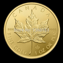Wholesale new CANADA FINE GOLD oz or pur COIN ELIZABETH II DOLLARS COIN Canadian maple leaf COINS