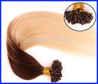 Wholesale queen hair products cheap brazilian straight hair pre bonded Italian keratin nails u tip ombre hair extensions g